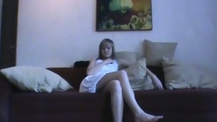 Sex appeal legal age teenager chick kneels and performs valuable oral pleasure.