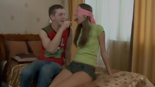 Four rod cannot fill in all directions from hungry holes of the legal age teenager slut