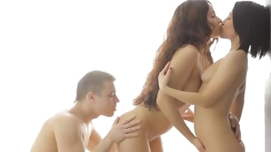 Unsightly darling is having wild fun sampling dudes abiding boner