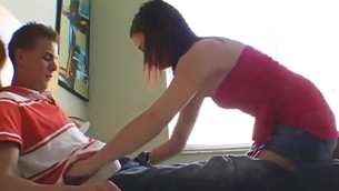 Adorable chick gives wonderful cook jerking!