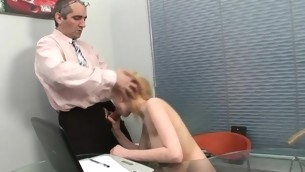 Horny old teacher is humping playgirl's constricted anal stab
